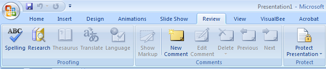 school-chalao-review tab of powerpoint imgae