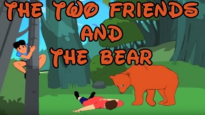 Two Friends and The Bear image