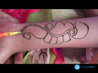 EASY Arabic Mehndi Design For Hands , Simple Arabic Designs